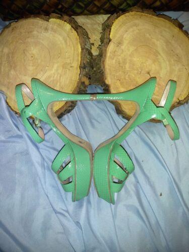 Vince Camuto Mint Green Platform Shoes Size 8-1/2