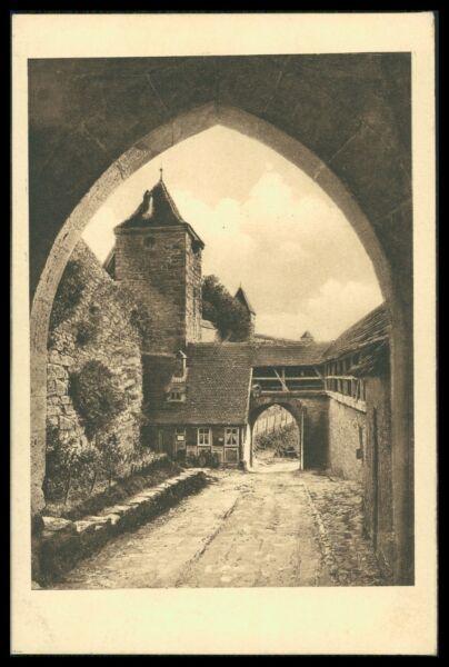 Briefmarken Ak Rothenburg Ob Der Tauber Alte Ansichtskarte Foto-ak Postcard Cx39
