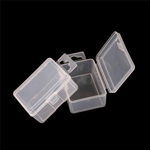 2x Small Plastic Storage Box Clear Multipurpose Part Product Case 5.2*4*2.5cm FJ