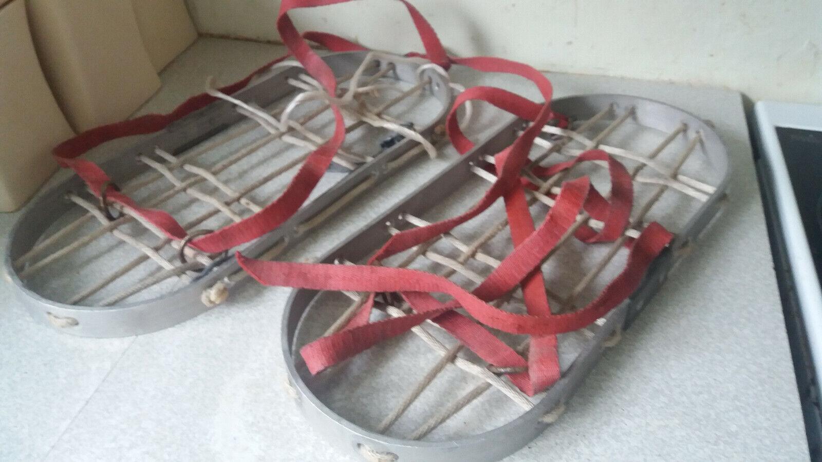 COPPIA Vintage in tuttiuminio Racchette da Neve   16 x 7 pollici