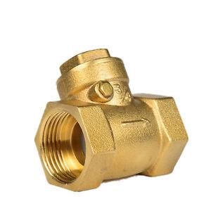 1-2-034-BSPP-Female-Brass-Swing-Check-Valve-232Psi-Prevent-Water-Backflow