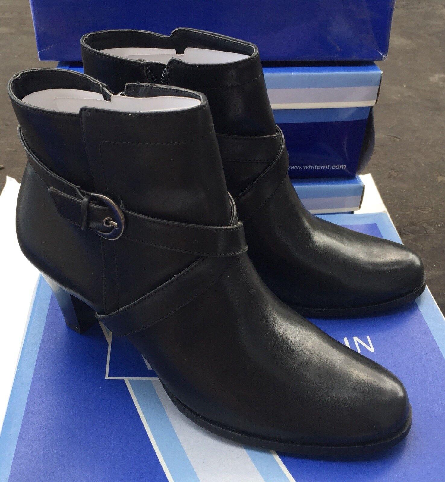 White Mountain Kiosk Womans Ankle Boots Sz 8 Black New In Box