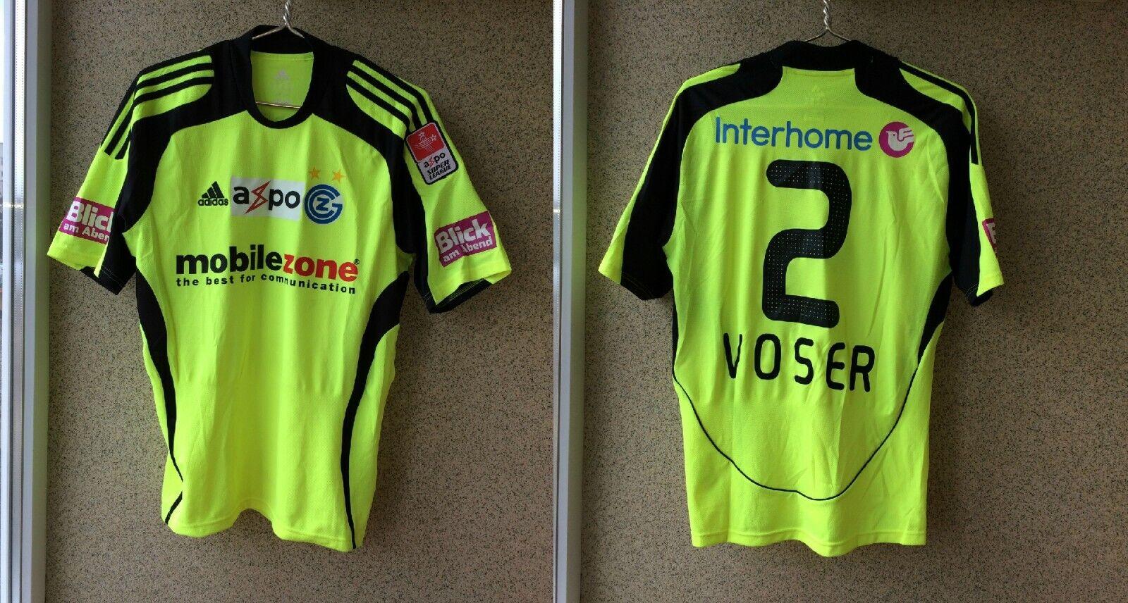 Grasshoppers Away football shirt 20082009 Jersey Adidas Match Worn  2 Kay Voser