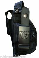 Gun Holster For Glock 43 With Laser/light Attachment With Extra Mag Holder