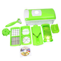 Nicer Dicer Plus Super Slicer With 12 Pcs Fruit Vegetable Peeler Chopper Grater
