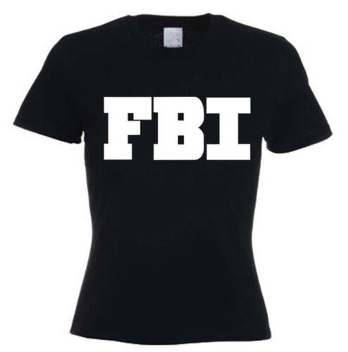Federal Bureau Of  Investigation Fancy Dress FREE P/&P FBI WOMENS T-SHIRT