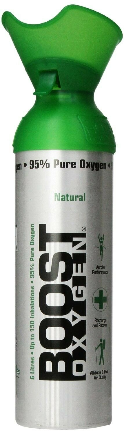 Boost Oxygen (6)Six Cans - 95% Pure Oxygen in 22oz. Cans