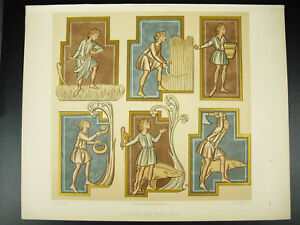 Figures Des Mois Allégories Des Saisons Emile Beau Litho Xixe 1858 Hangard Performance Fiable