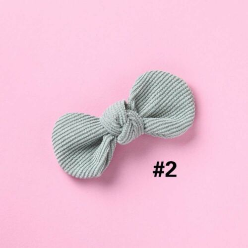 Toddlers Bowknot Corduroy Kid Hair Clips Baby Hairpins Duckbill Clip Barrettes
