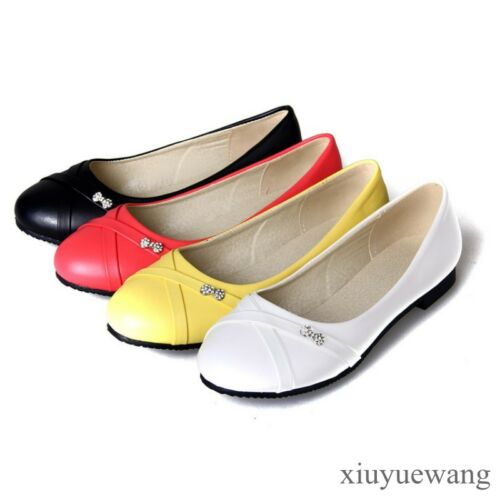 Details about  /US4-12.5 Womens Round Toe Ballet Flats Boat Casual Shoes Slip on Loafers Pumps