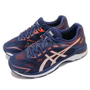 Details about Asics GT 2000 7 2E Wide Indigo Blue Orange Men Running Shoes  1011A159-400