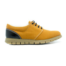 Vegan flat derby warm synthetical lined breathable lug non-skid Lace-Up Padded