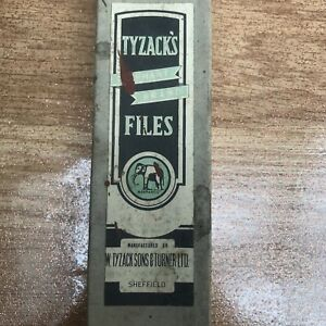 Vintage-TYZACK-039-s-Elephant-Brand-Files-BOX-ONLY-for-Hand-2nd-Cut-10-034-Files-Prop