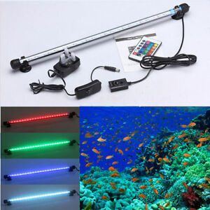 Aquarium-fish-tank-waterproof-RGB-remote-submersible-LED-light-bar-lamps-UK-Plug