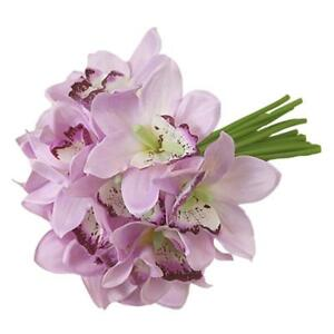 Fake-Orchids-12-Head-Silk-Flowers-Wedding-Bridal-Bridemaid-Foral-Bouquet