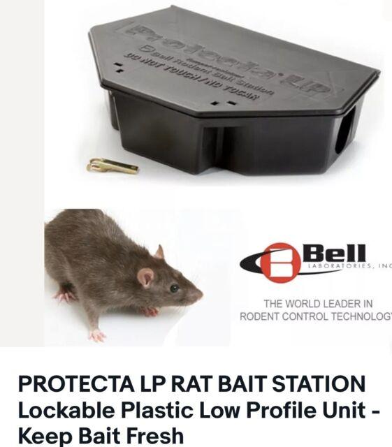 PROTECTA LP RAT BAIT STATION Lockable Plastic Low Profile Unit - Keep Bait Fresh