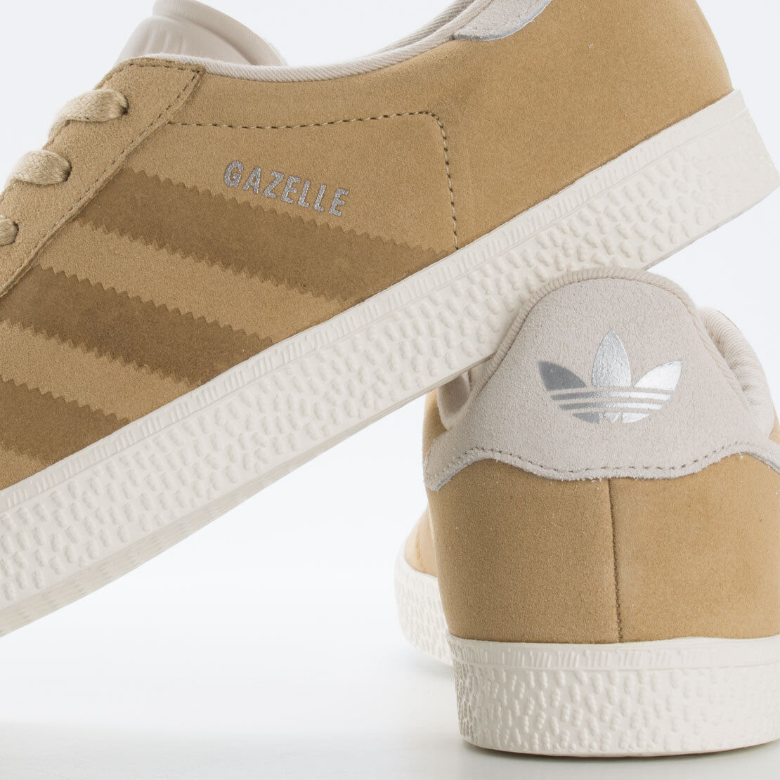 Adidas Adidas Adidas Originals Gazelle J Beige Khaki Tan Cream Brown Suede Kids sz 5.5 Women 7 64e167