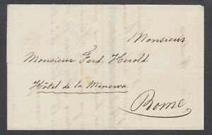 Italy-ca-1839-Stampless-Mourning-SFL-to-Rome-Forwarding-Agent-TORLONIA-amp-Co