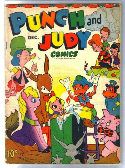 PUNCH & JUDY Vol 1 #5 Vintage Golden Age Hillman Comic Book circa 1945 ~ VG