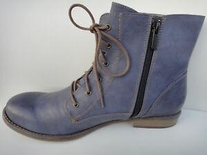 online store b7c85 2e0e7 Details zu Mustang Stiefelette Boots Damen 38 41 43 blau neu