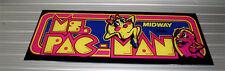 """MS PAC MAN Arcade Machine MARQUEE Brand New Screen Printed 1/4"""" LEXAN"""