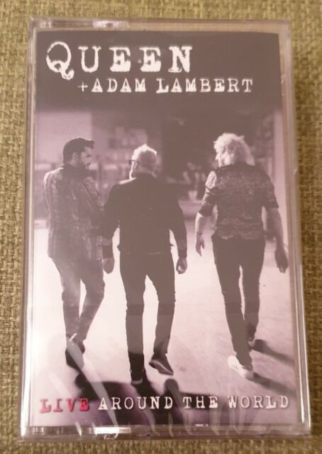 Queen + Adam Lambert - Live Around The World - UK Cassette Album - New & sealed