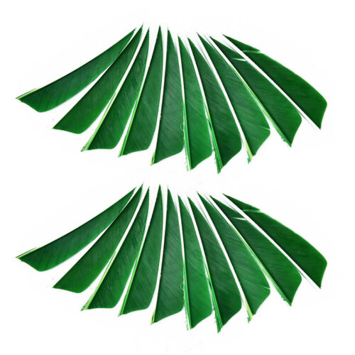 "20pcs//lot 3/"" shield cut fletching arrow feathers turkey feather arrow fletch YJ"