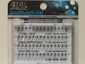 664736f5167 Image is loading Ardell-Duralash-Naturals-Flare-COMBO-PACK -Individual-Eyelashes