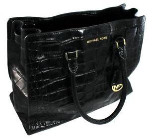 dd9cd66649eb1e Michael Kors Dillon Large NS Black Embossed Leather Tote Bag/purse  30h4gait3e