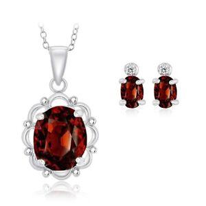 6-50-Ct-Garnet-Oval-Pendant-and-Garnet-Genuine-Diamond-Sterling-Silver-Earring