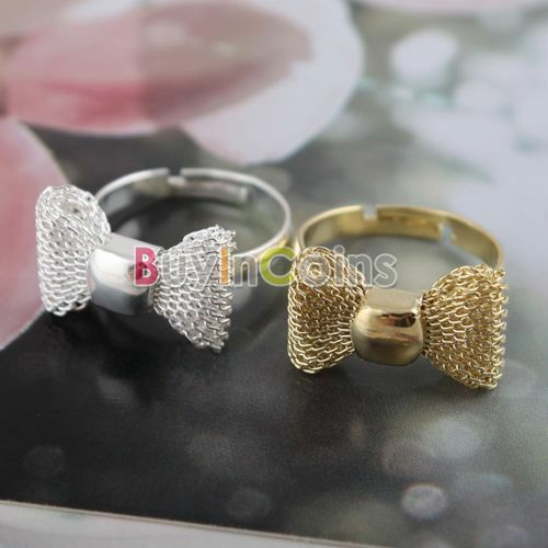 Butterfly Net Korean Design Bow Personality Ring Size Free SACA