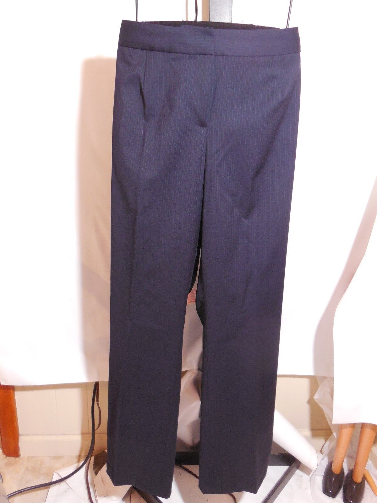 WOMANS blueE PIN STRIPE SEASONLESS WOOL SIGNATUR FIT PANTS TALBOTS PLUS 14W