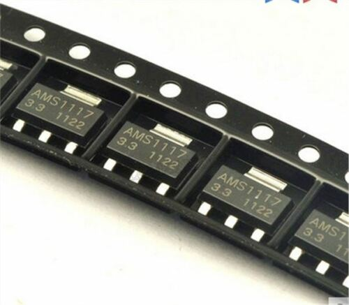 100 Stücke AMS1117 AMS117-3.3 3,3 V 1A Spannungsregler SOT-223 yk
