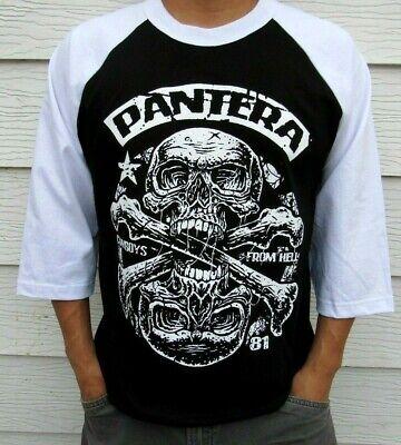 Pantera-Cowboys from Hell Skull Sticker Mens 3//4 Sleeve Raglan Baseball T Shirt Black,Medium,Black