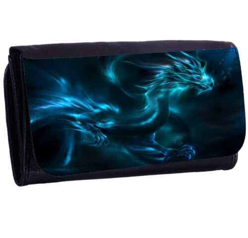 Glowing Dragon Bi-fold Zipper Bill /& Card Holder Long Wallet