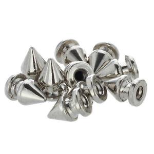 MA-10x-Kupfer-Silber-Killernieten-Spitz-Nieten-Punk-Ziernieten-Schraubnieten
