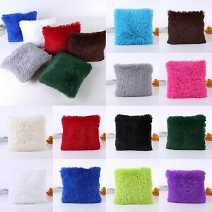Soft-Fur-Plush-Square-Throw-Pillow-Cases-Home-Decor-Sofa-Waist-Cushion-Cover-New