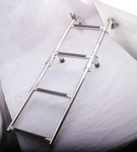 Stainless Steel Folding 2 2 Steps Boat Ladder Pontoon Swim
