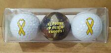 2005  Support our Troops ~ Enjoy Life  Golf Balls ~ 3 in pkg