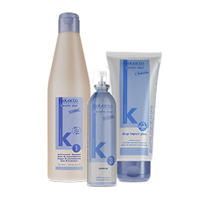 Salerm Keratin Shot Pack Post Keratin Therapy 3 Products Shampoo+Mask+Serum