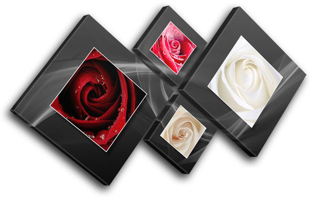 Love rosas rosas rosas Natural Floral MULTI TELA parete arte foto stampa f22ca0