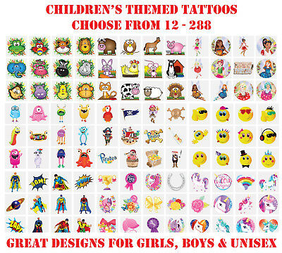 BEN 10 CHILDREN/'S TEMPORARY TATTOOS ~ BEN 10 TATTOO LOOT BAG STOCKING FILLER