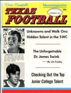 1972-Dave-Campbell-039-s-Texas-Football-11-9-72-Magazine-Keith-Bobo
