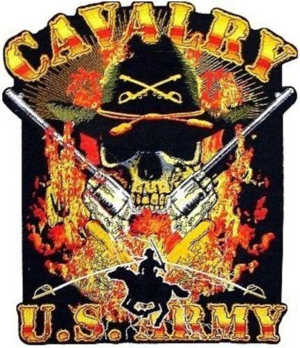 ARMY CAVALRY SKULL BUMPER STICKER TOOLBOX STICKER LAPTOP STICKER HARD HAT DECAL