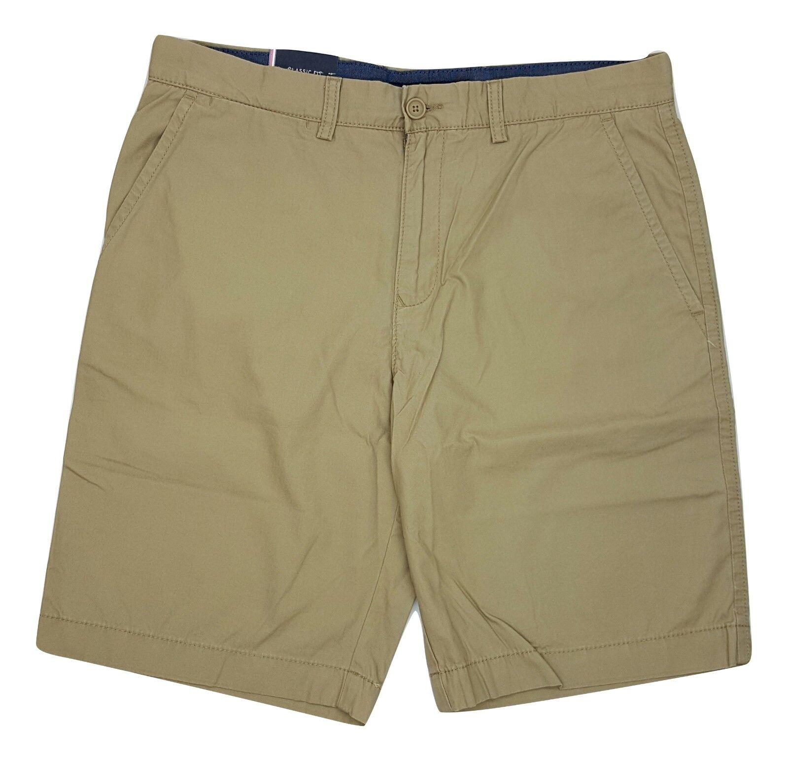 Tommy Hilfiger Men/'s Core Classic Fit Flat Front Shorts Size 34 W//Detail