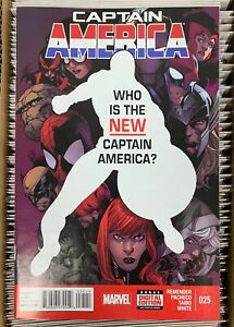 CAPTAIN AMERICA #25-FIRST SAM WILSON AS CAPTAIN AMERICA-FALCON & WINTER SOLDIER