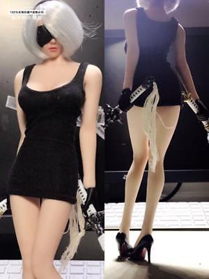 "1//6 femelle noir serré robe yorha 2B jupe ensembles F 12/"" PH TBLeague Figure"
