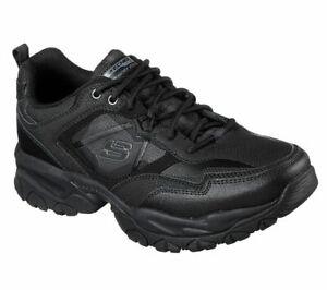 Sneaker-Skechers-Wide-Fit-Black-Shoes-Men-Memory-Foam-Sport-Train-Comfort-52700