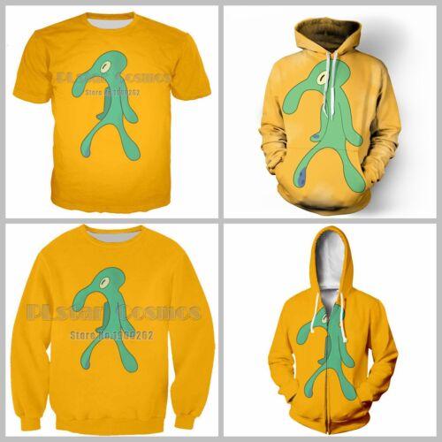 Squidward Fashion Unisex 3D Print Casual T-Shirt//Sweatshirt//Hoodie S14