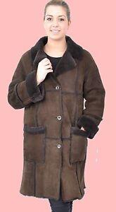 WOMENS-L-XL-Shearling-Lambskin-Sheepskin-Fur-Lamm-Coat-Jacket-Ladies-MM809